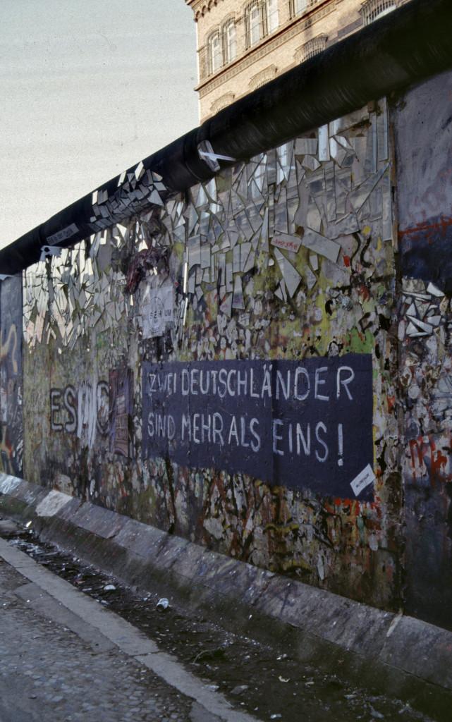 Berliner Mauer 1989, Foto: Aad van der Drift