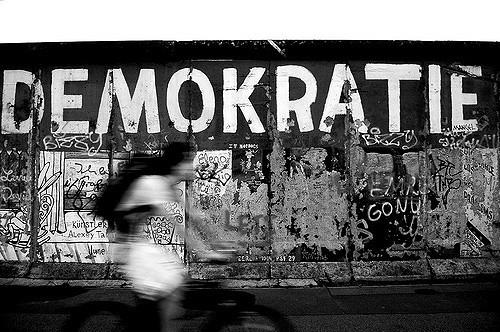 Demokratie, Grafitto Foto: Maria Langmann, 2017