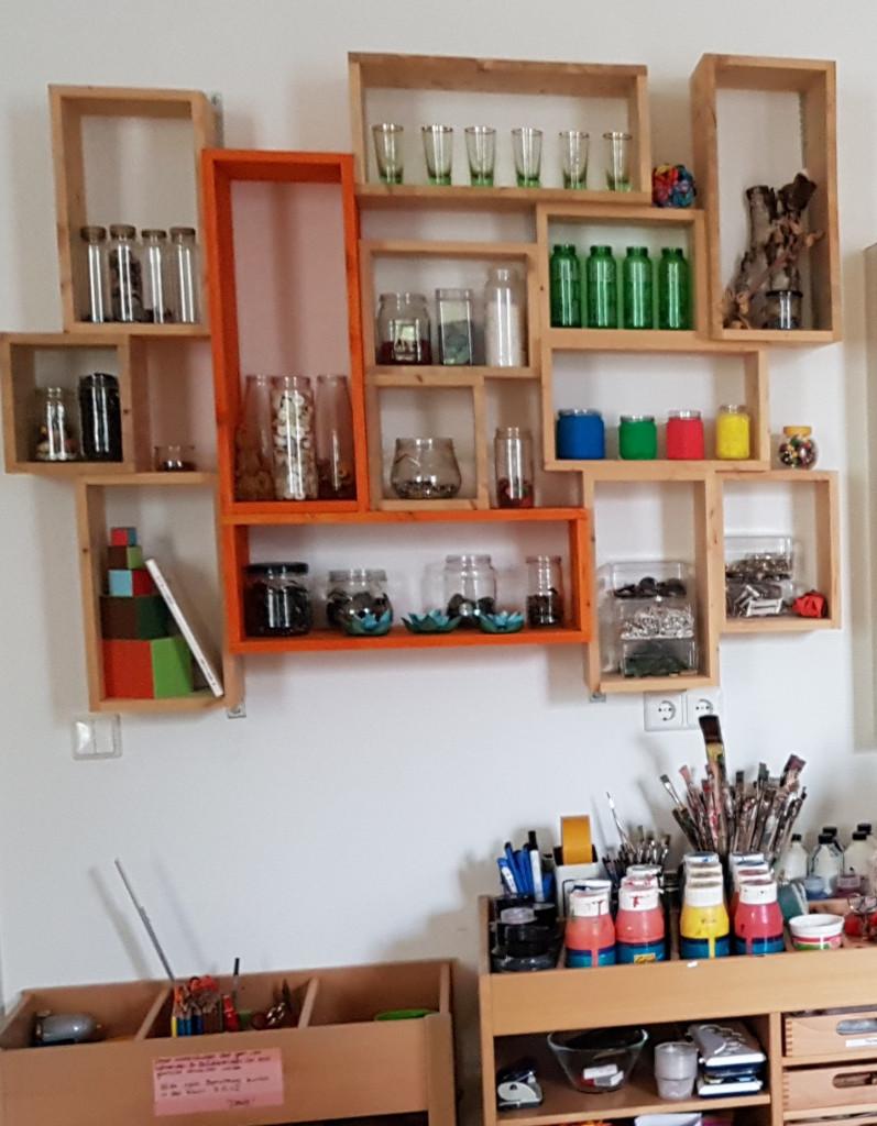 Materialien für Kinder im Lernlaboratorium der FH Erfurt (Foto: A. Börger)